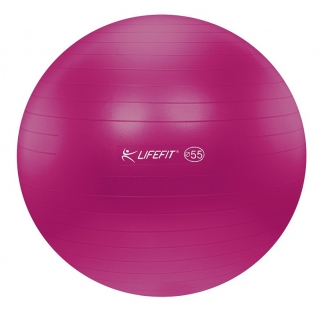 Gymnastický míč LIFEFIT ANTI-BURST 55 cm, bordó