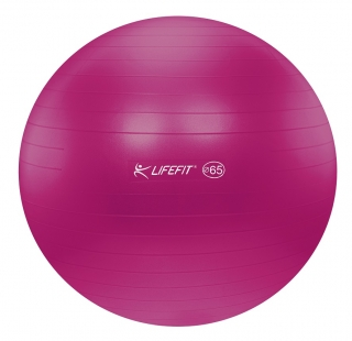 Gymnastický míč LIFEFIT ANTI-BURST 65 cm, bordó